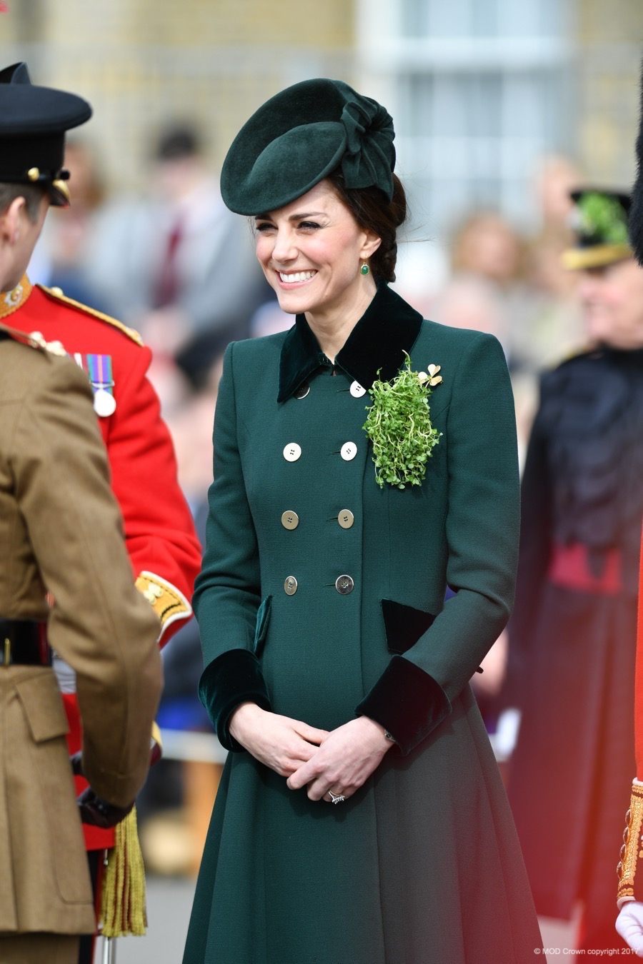 Kate Middleton wears a Catherine Walker and Co coat