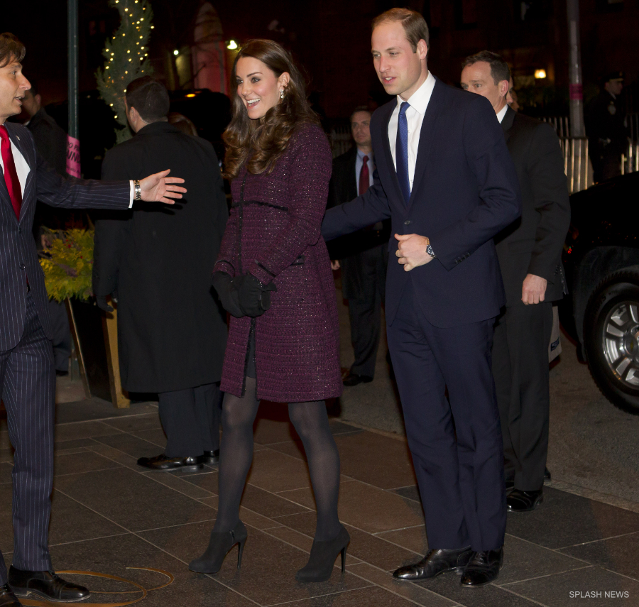 Kate Middleton in New York wearing a Seraphine Coat