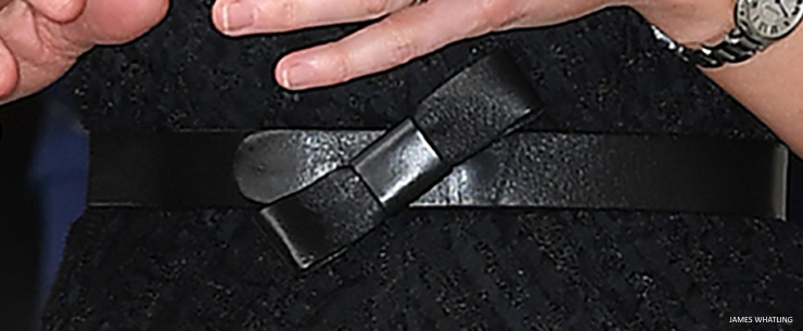 Kate Middleton leather bow belt