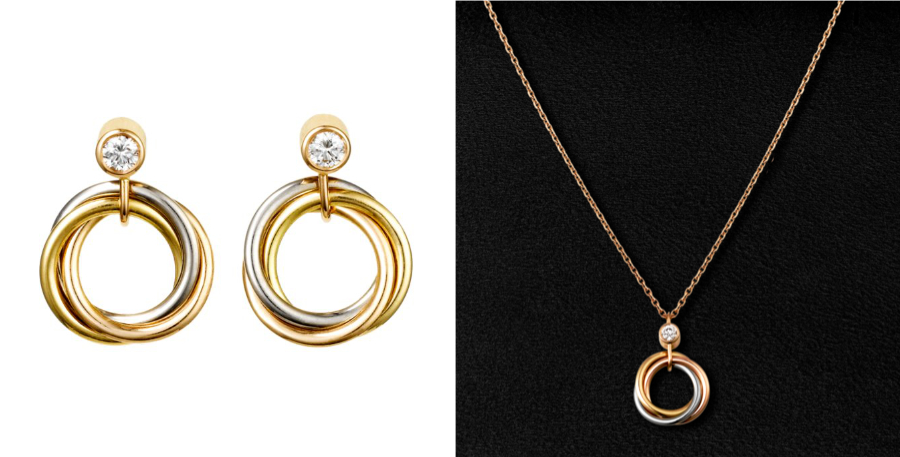 Kate Middleton's Cartier earrings and necklace from Paris
