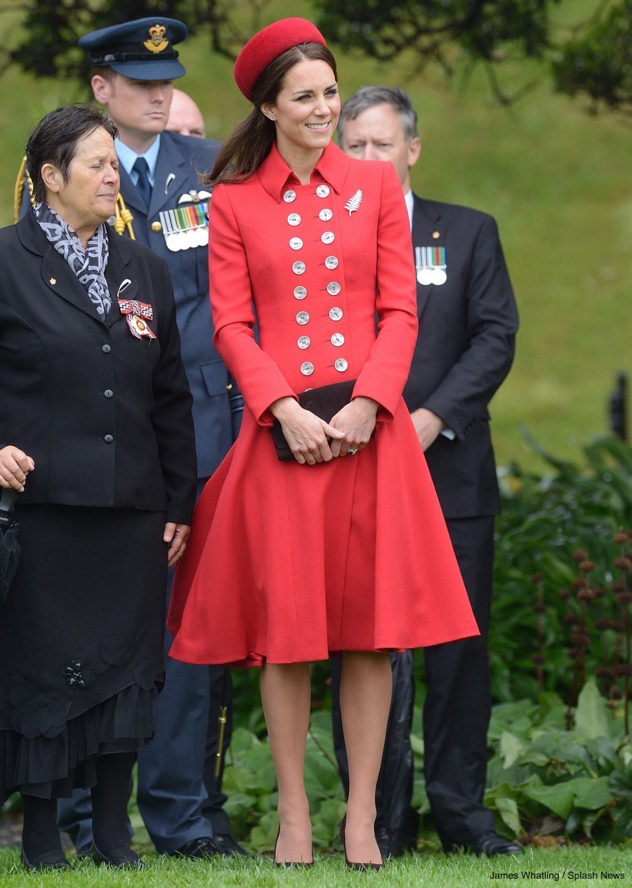 Kate Middleton's Catherine Walker Coat in New Zealand