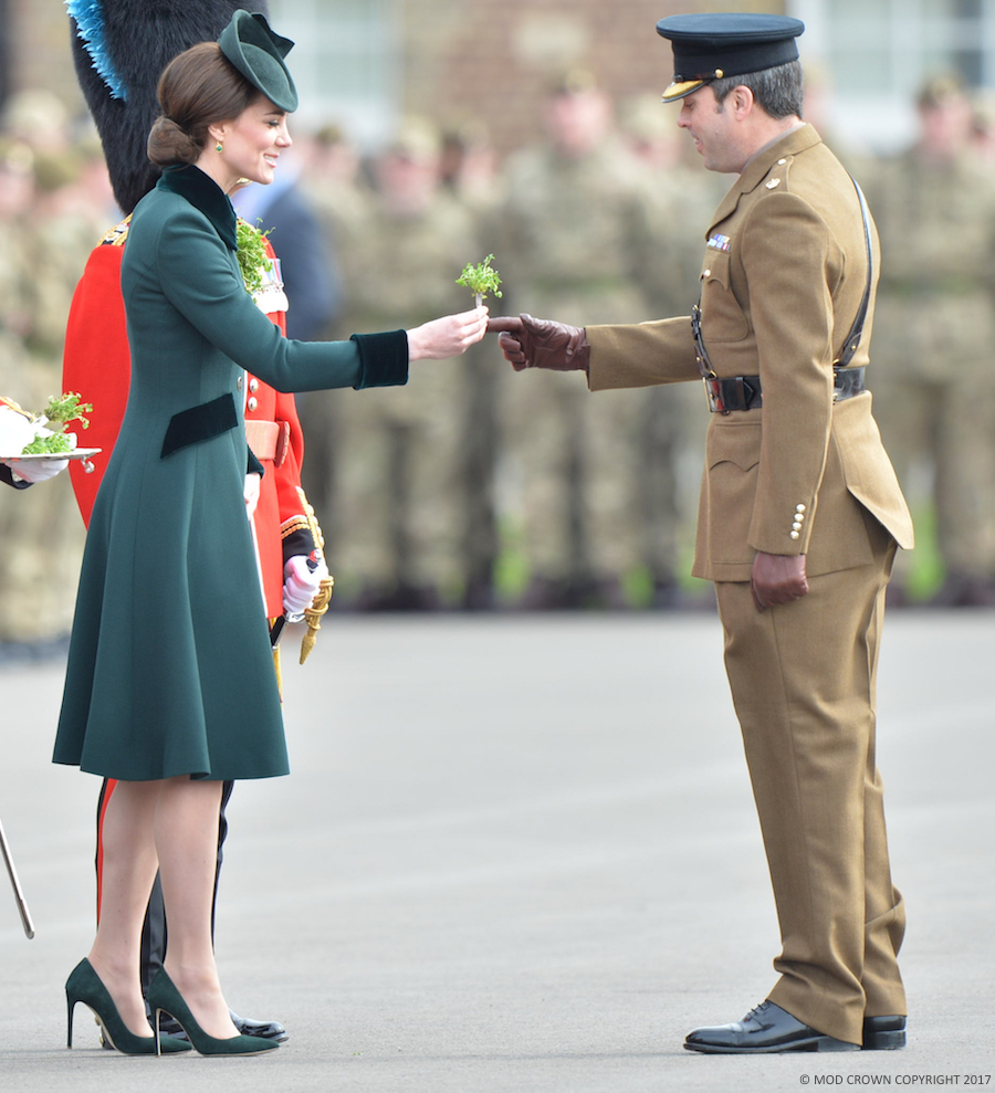 Kate Middleton wearing the Catherine Walker coat