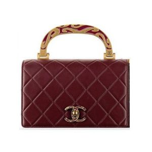 Chanel Calfskin Bag with Enamel Handle