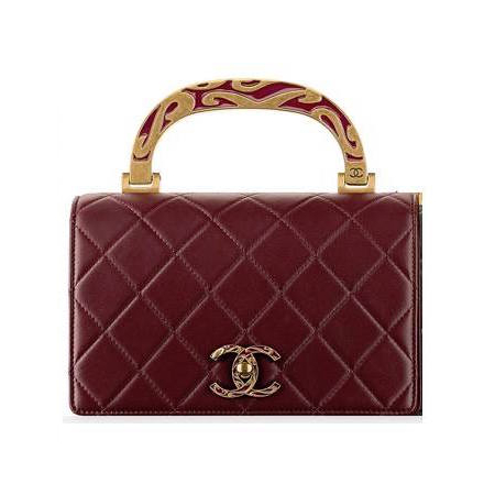 Chanel Calfskin Bag with Enamel Handle