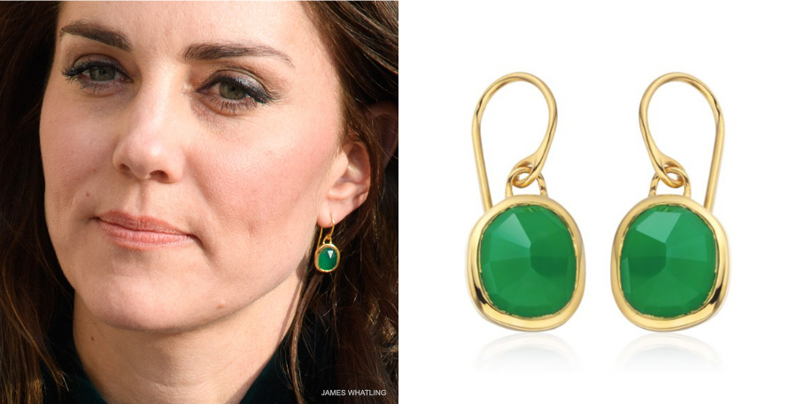 Kate Middleton's Monica Vinader Siren earrings in Paris