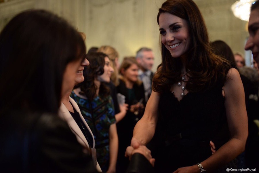 Kate Middleton in Paris wearing Alexander McQueen