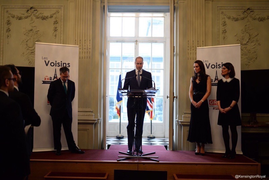 Prince William gives a speech in Paris