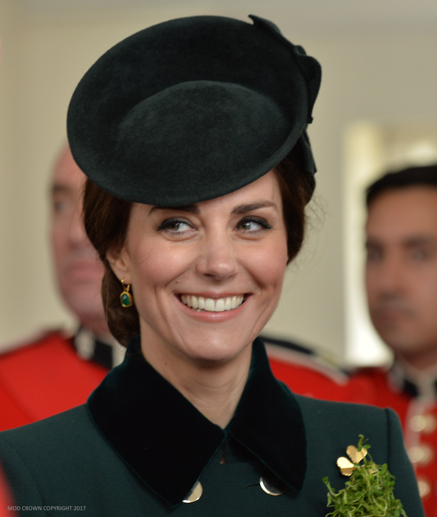 Kate Middleton wearing Monica Vinader's green onyx Siren earrings