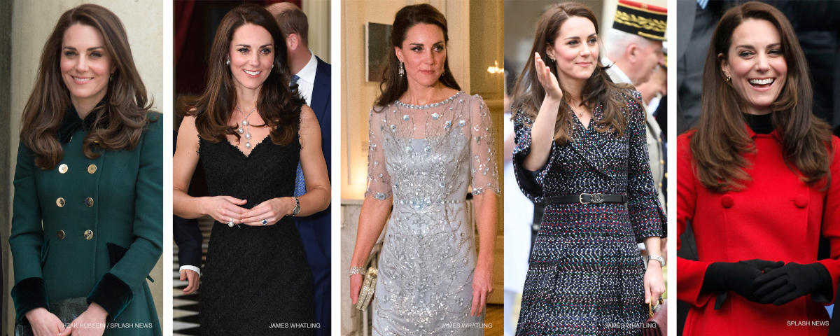 All five of Kate's outfits in Paris