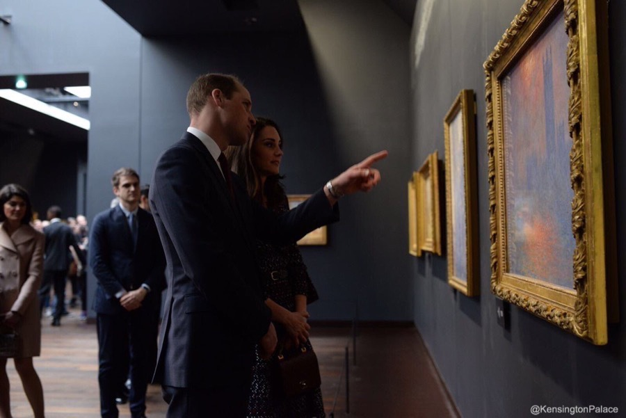William and Kate at the Musee D'Orsay