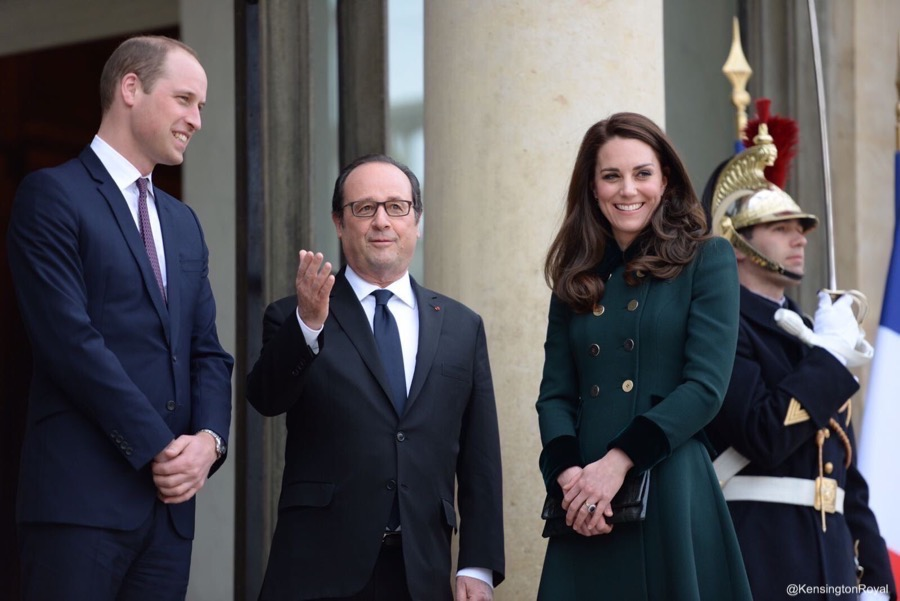 William and Kate arrive in Paris