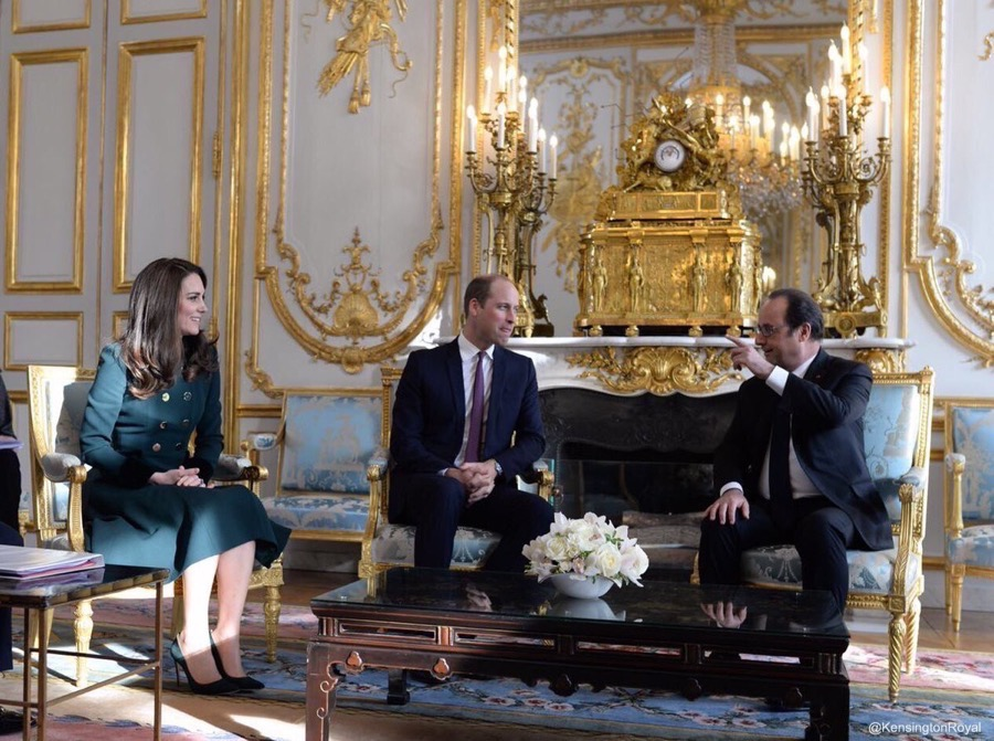 William and Kate visit Paris