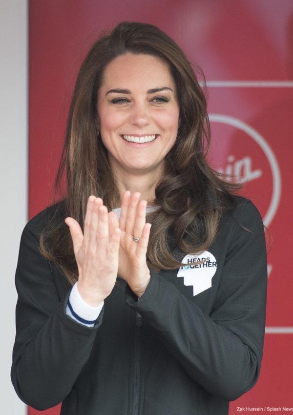 Kate Middleton attends the London Marathon in support of Heads Together