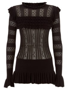 Temperley London Cypre Top in Black