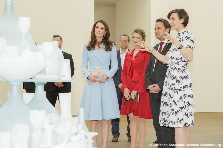 Kate visits the Mudam in Luxembourg