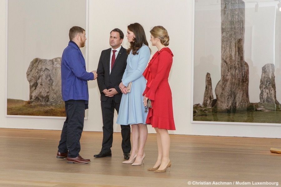 Kate Middleton visits the MUDAM in Luxembourg City