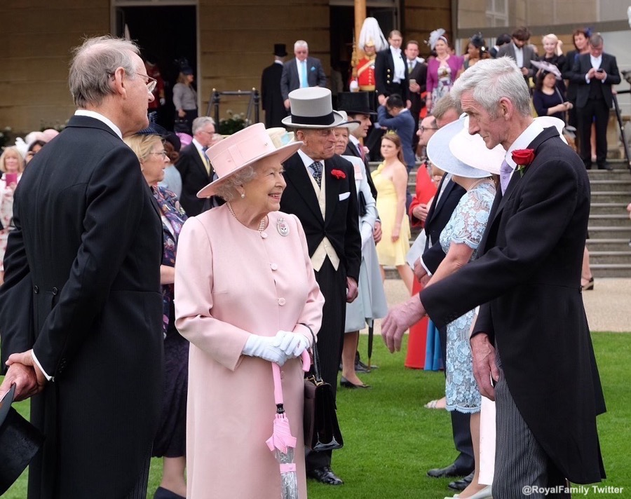 The Queen at the Garden Party in 2017