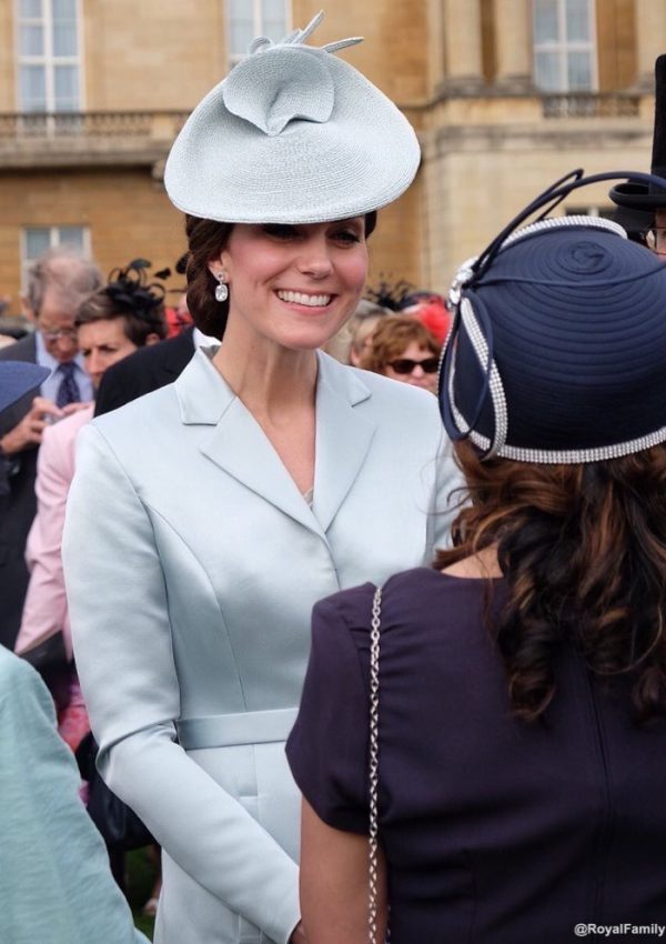Kate in Christopher Kane coat dress for the Queen's first Garden Party of 2017