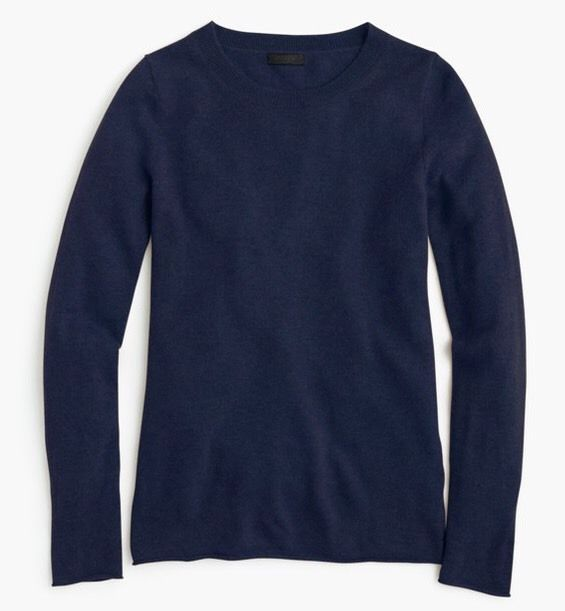 J.Crew Cashmere Sweater in Heather Navy