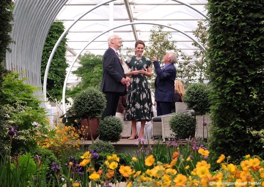 Kate Middleton at the RHS Chelsea Flower Show