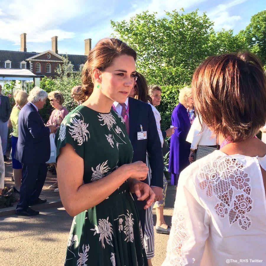Kate Middleton wearing Monica Vinader earrings