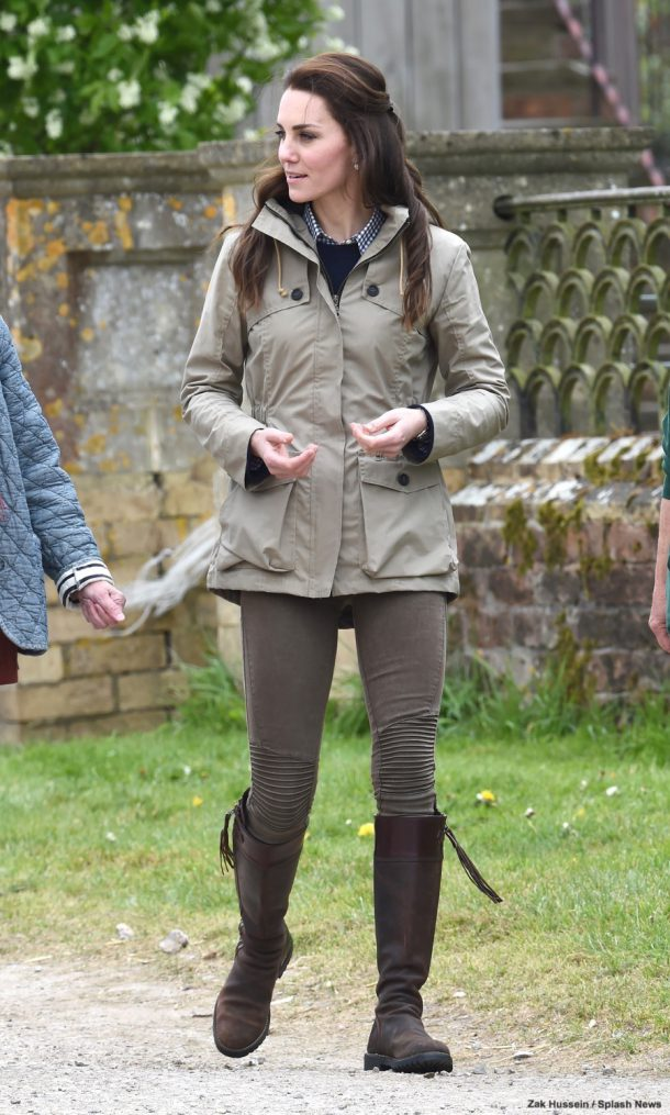 Catherine, The Duchess of Cambridge visits Farms for City Children in Arlingham, Gloucestershire