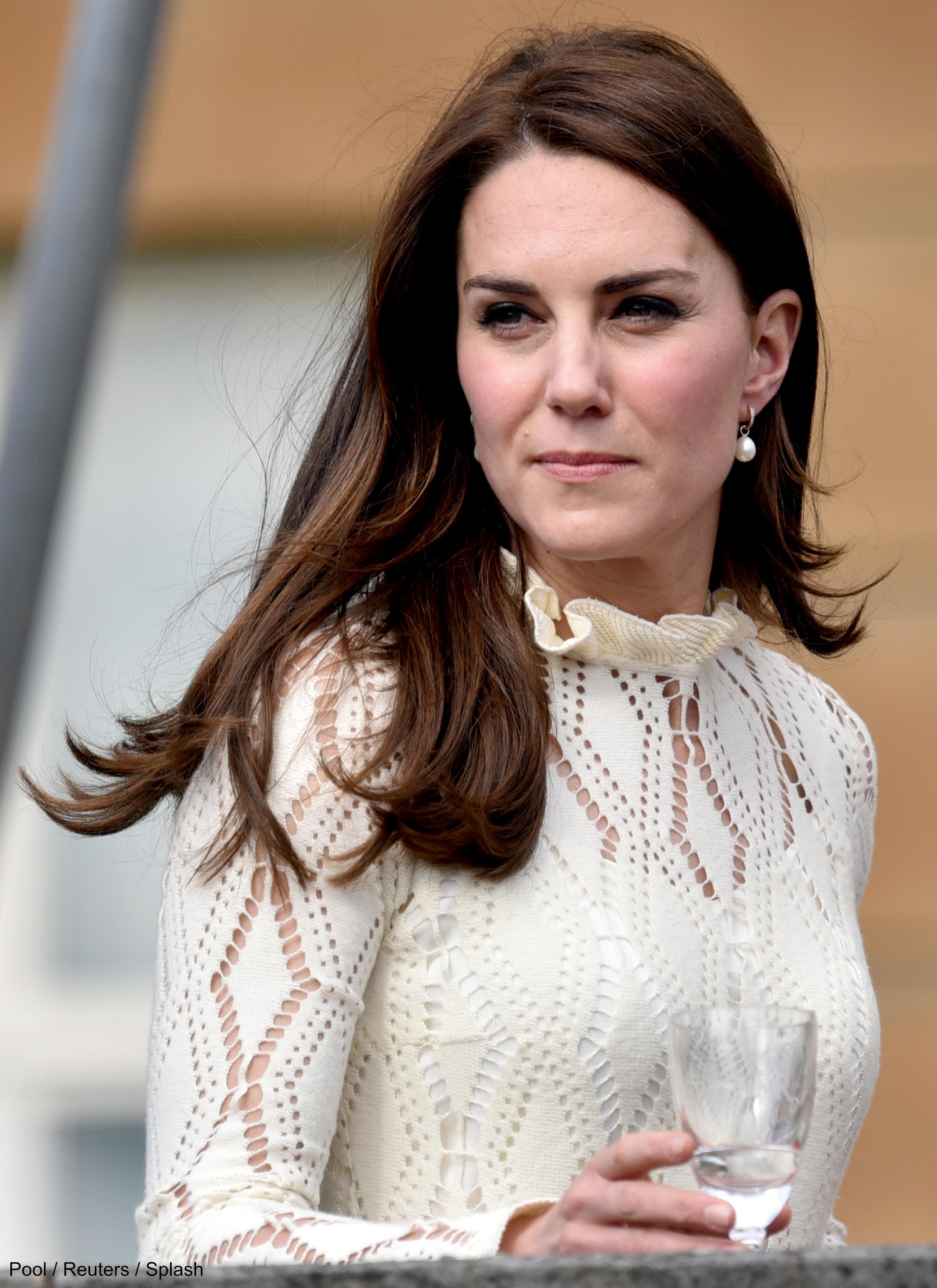 Kate Middleton wears Annouska pearl drop earrings