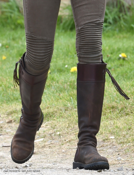 Kate Middleton wearing her Penelope Chilvers boots on the farm
