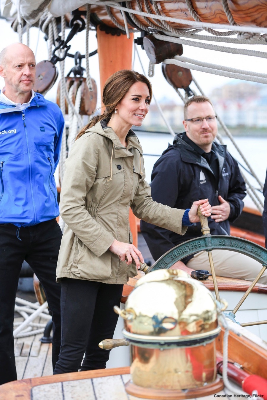 Kate Middleton wearing the Troy London jacket in Canada, 2016
