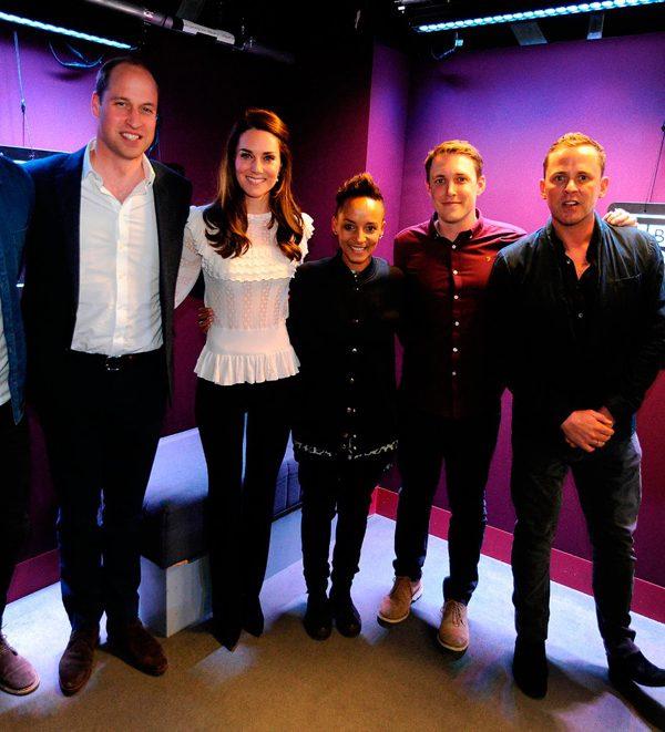 William & Kate visit the Radio 1 studios