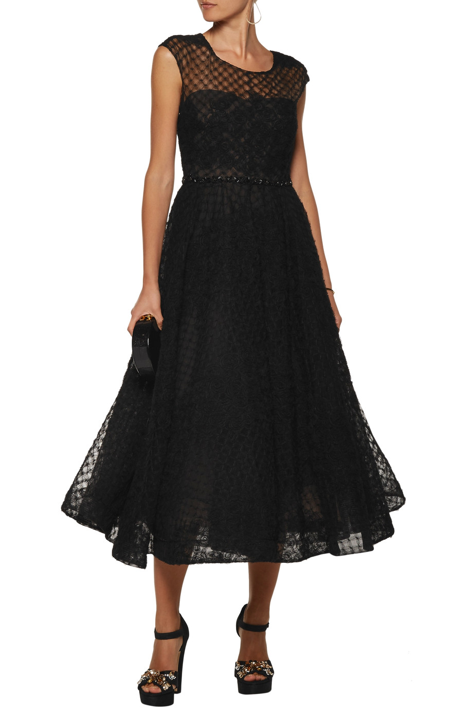 Marchesa Notte Flared Dress