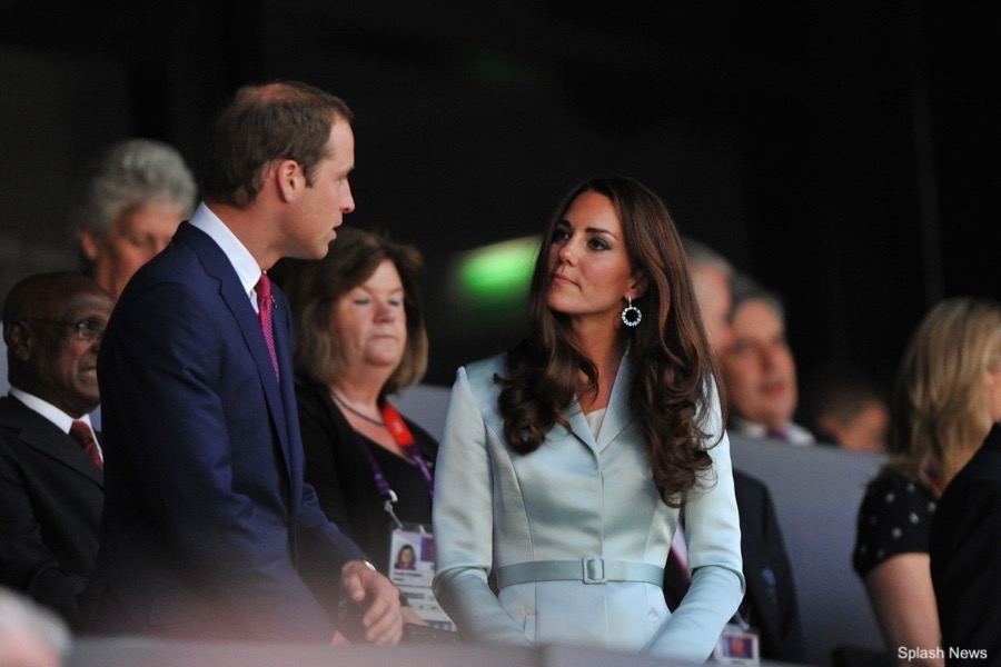 Kate Middleton at the 2012 Olympics wearing Christopher Kane