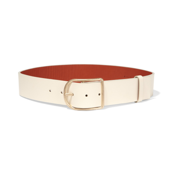 Acne Studios Cream Leather Belt