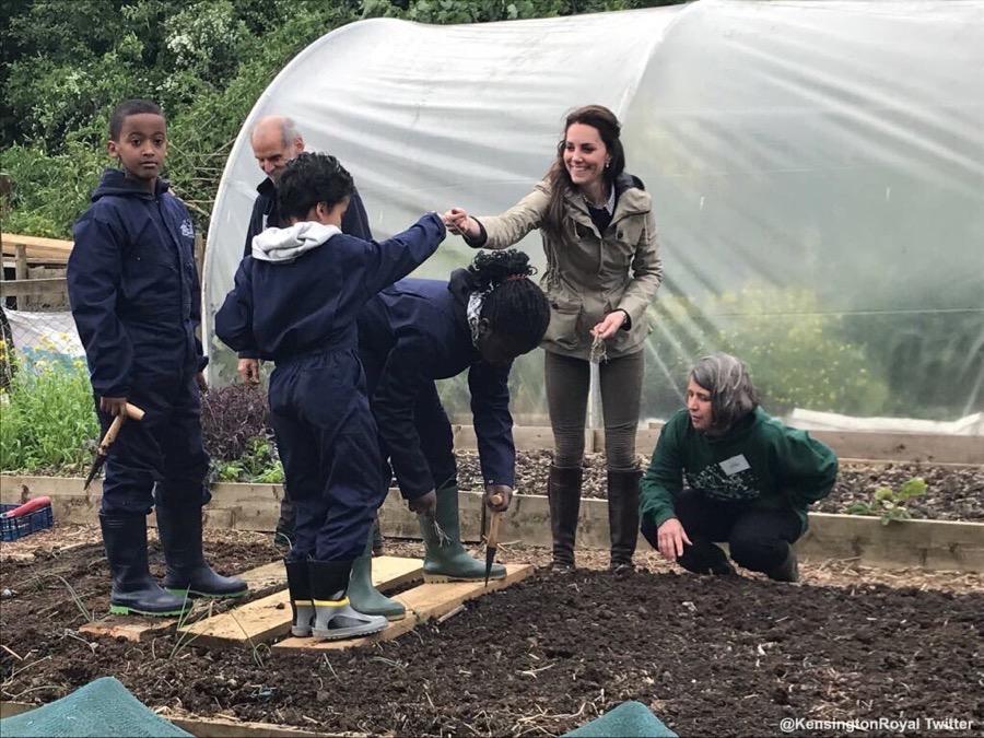 Kate Middleton visits Farms for City Children
