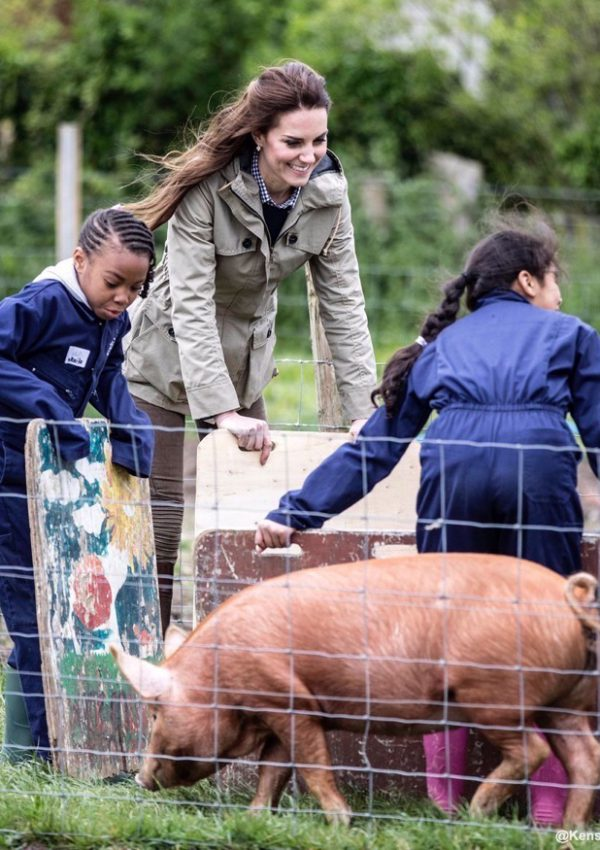 Kate visits the Farms for City Children project at Wick Court in Gloucestershire
