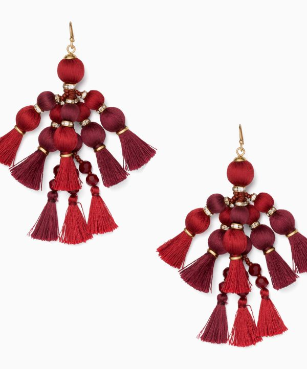 Kate Spade Pretty Pom Tassel Drop Earrings