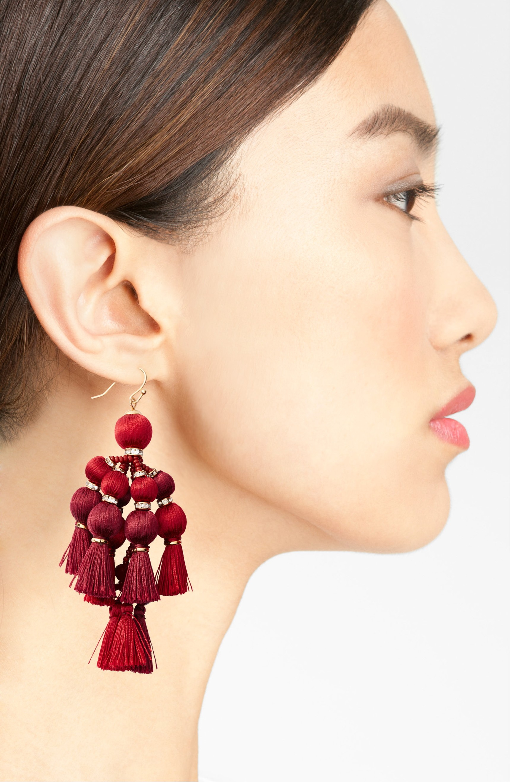kate lyst rose spade chandelier musethecollective faceted new gold pink product york earrings in
