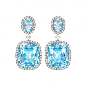 Kiki McDonough Blue Topaz Earrings