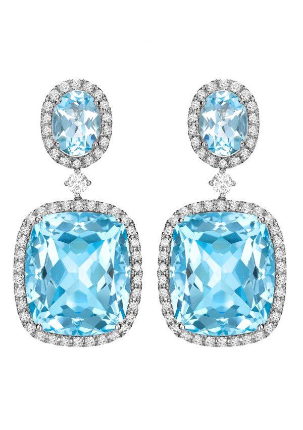 Kiki McDonough Blue Topaz Earrings