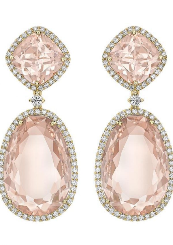 Kiki McDonough Morganite Double Drop Earrings