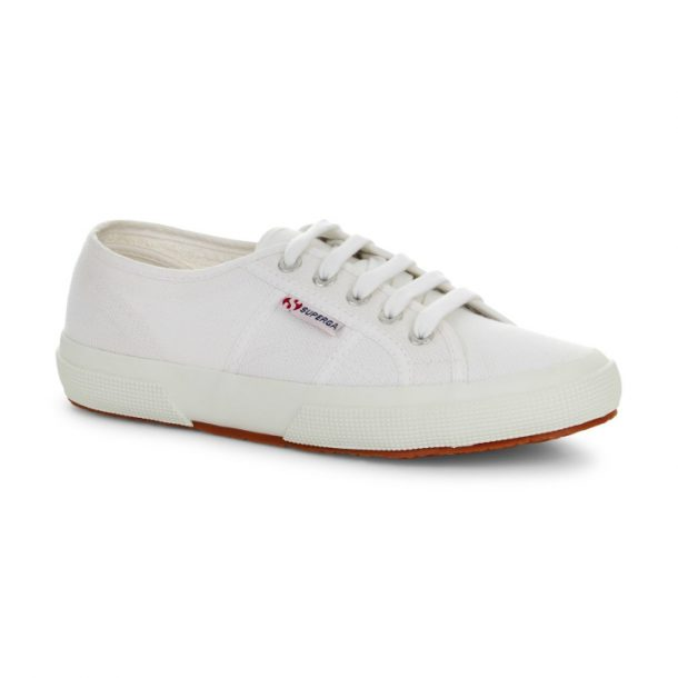 91658a6d8d74 Kate Middleton wears Superga 2750 Cotu Sneakers in White Canvas
