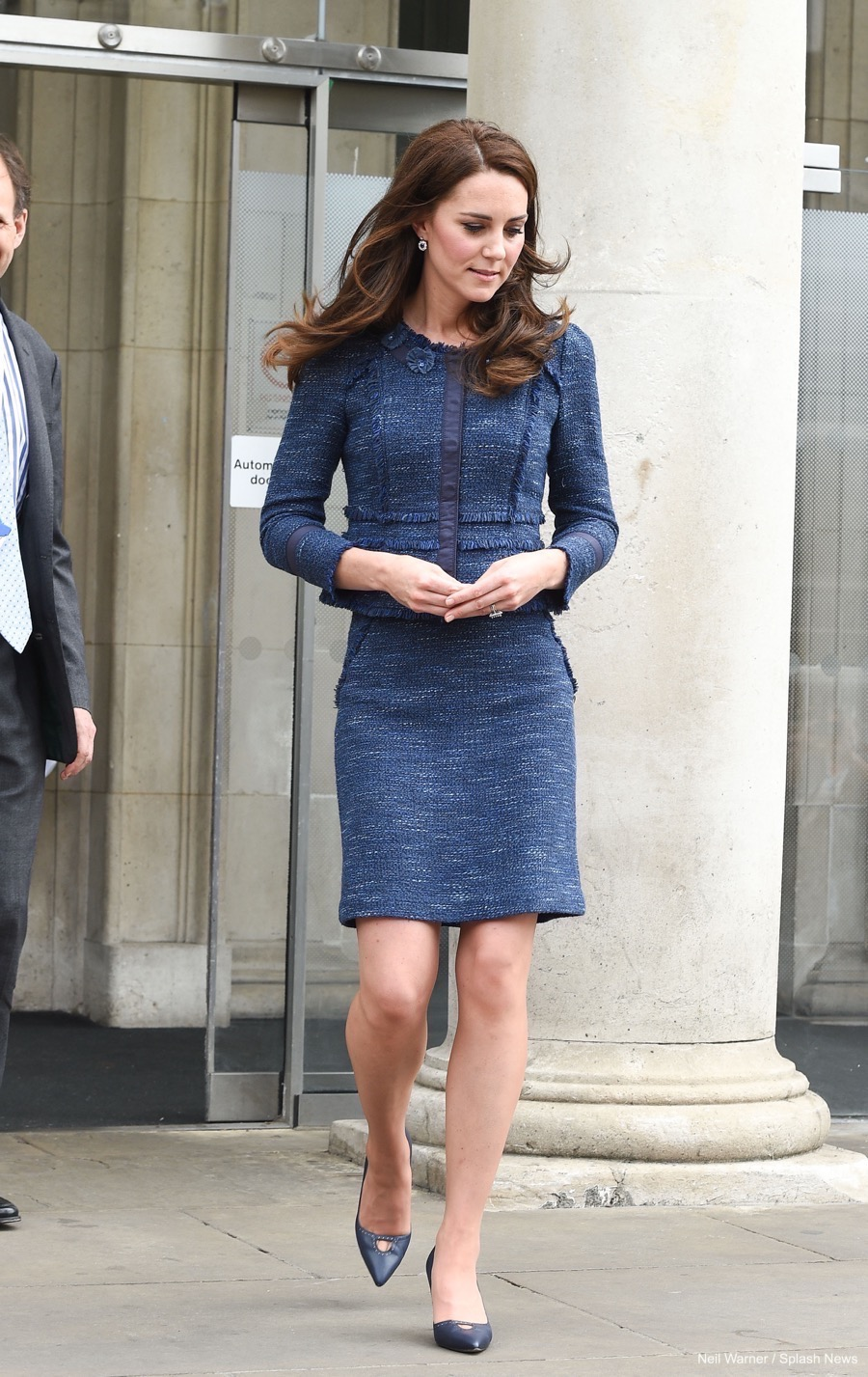 Kate Middleton's blue skirt suit from King's College Hospital, London