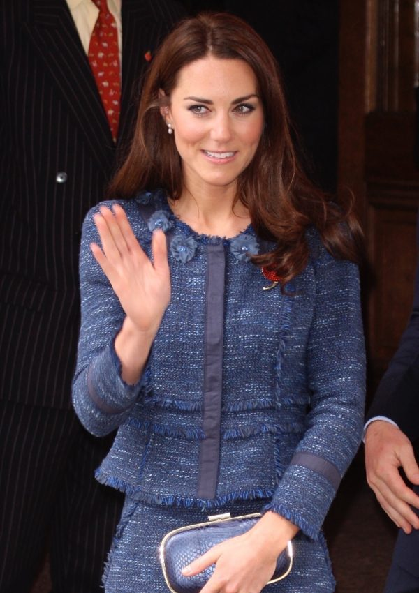 Duchess Kate wears Rebecca Taylor at Reception for the The Scott-Amundsen Centenary Race
