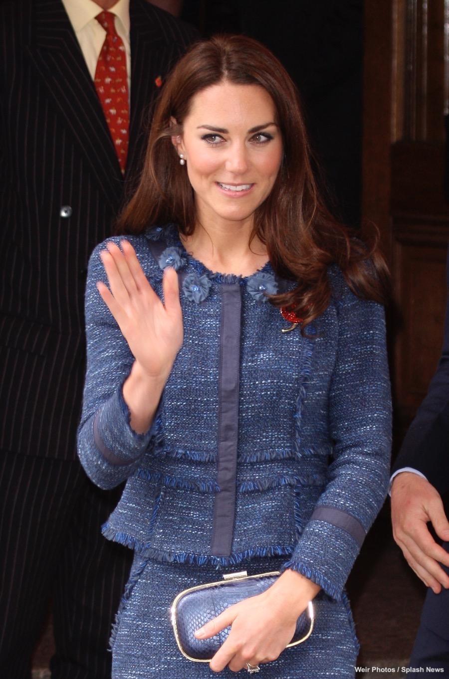Duchess Kate wears Rebecca Taylor to the Scott Amundsen Reception