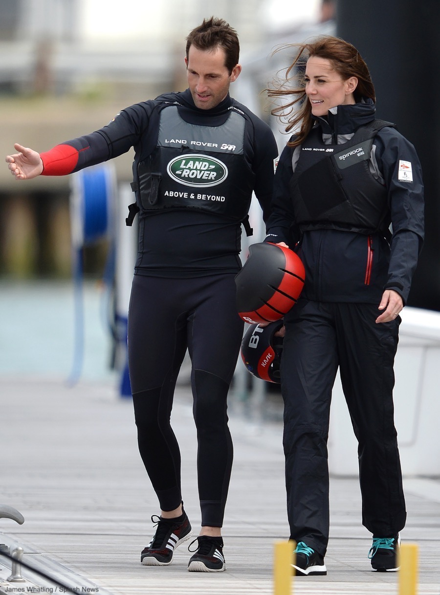 Kate Middleton with Ben Ainslee and Land Rover BAR