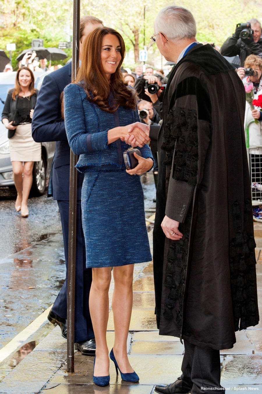Kate Middleton wearing the Rebecca Taylor Skirt Suit