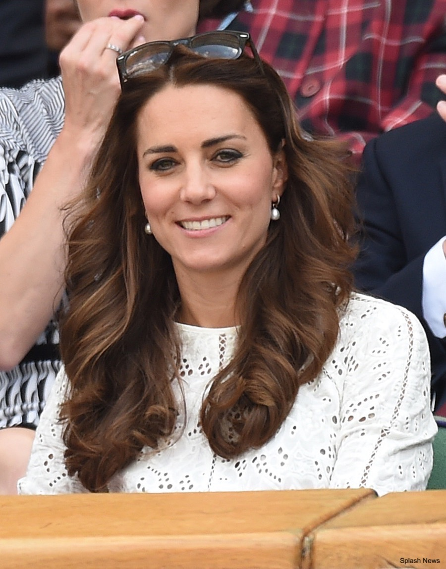 Kate Middleton wore a white dress to Wimbledon in 2014