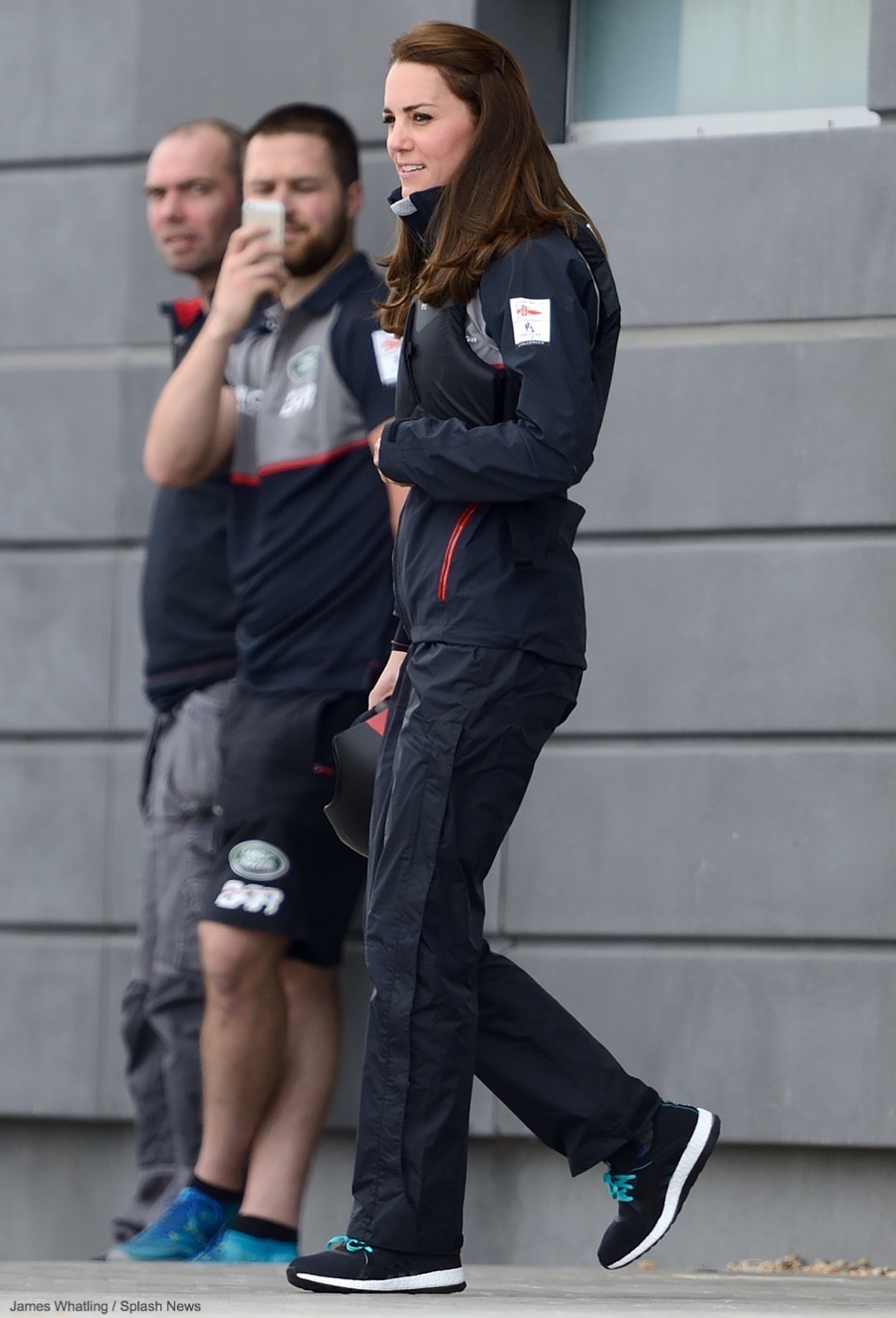 Kate Middleton wearing the Adidas Pureboost X Running Shoes