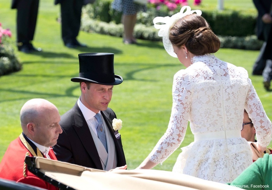 A look at the back of Kate's dress