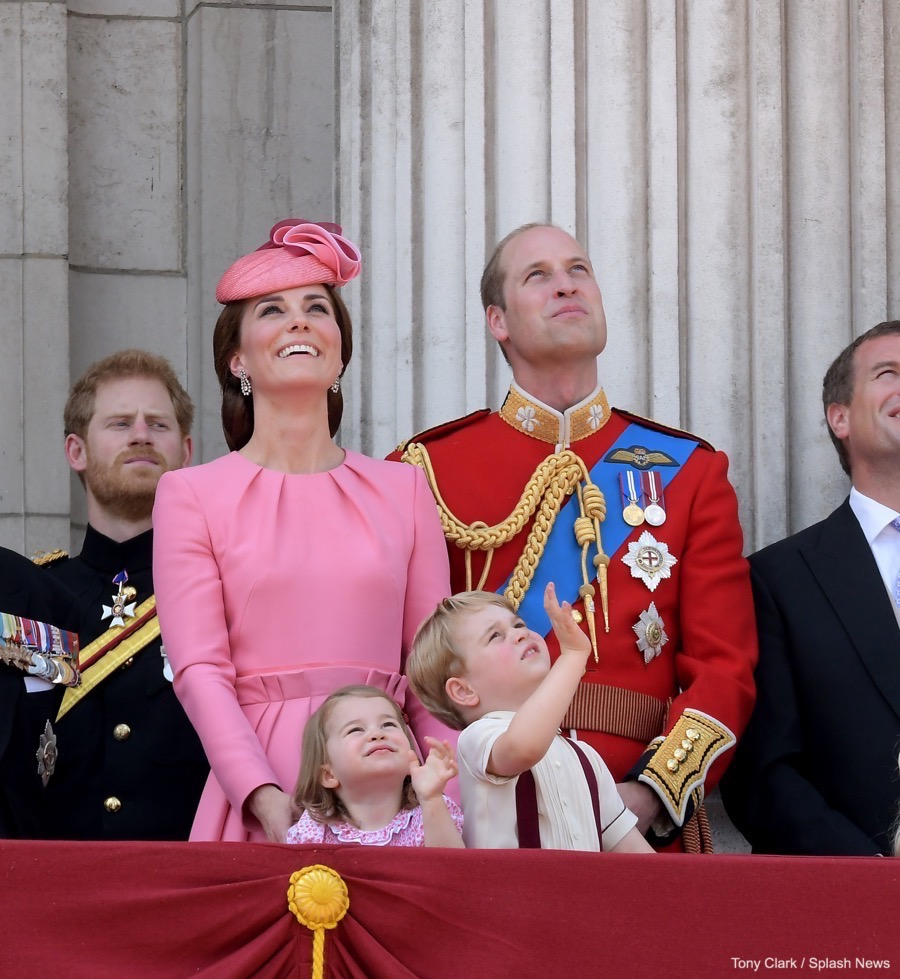 William, Kate, George and Charlotte at Trooping the Colour 2017